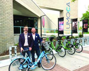 GREENbike Executive Director Ben Bolte & UMOCA Executive Director Kristian Anderson