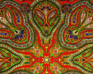 Colorful Indian pattern  fabric background.