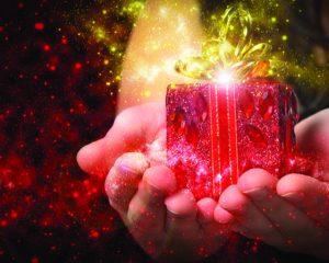 red gift Christmas magic