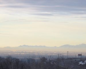 Haze over Salt Lake City